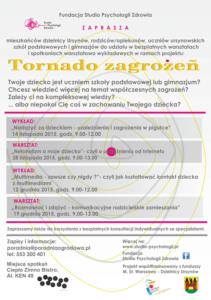 """Podsumowanie: """"Tornado zagrożeń – świadomy rodzic"""""""