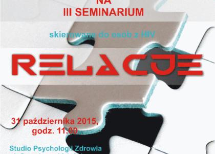 RAZEM PLUS seminaria dla osób żyjących z HIV/AIDS w Warszawie.