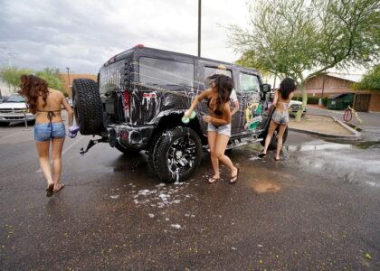Charity Bikini Car wash photos