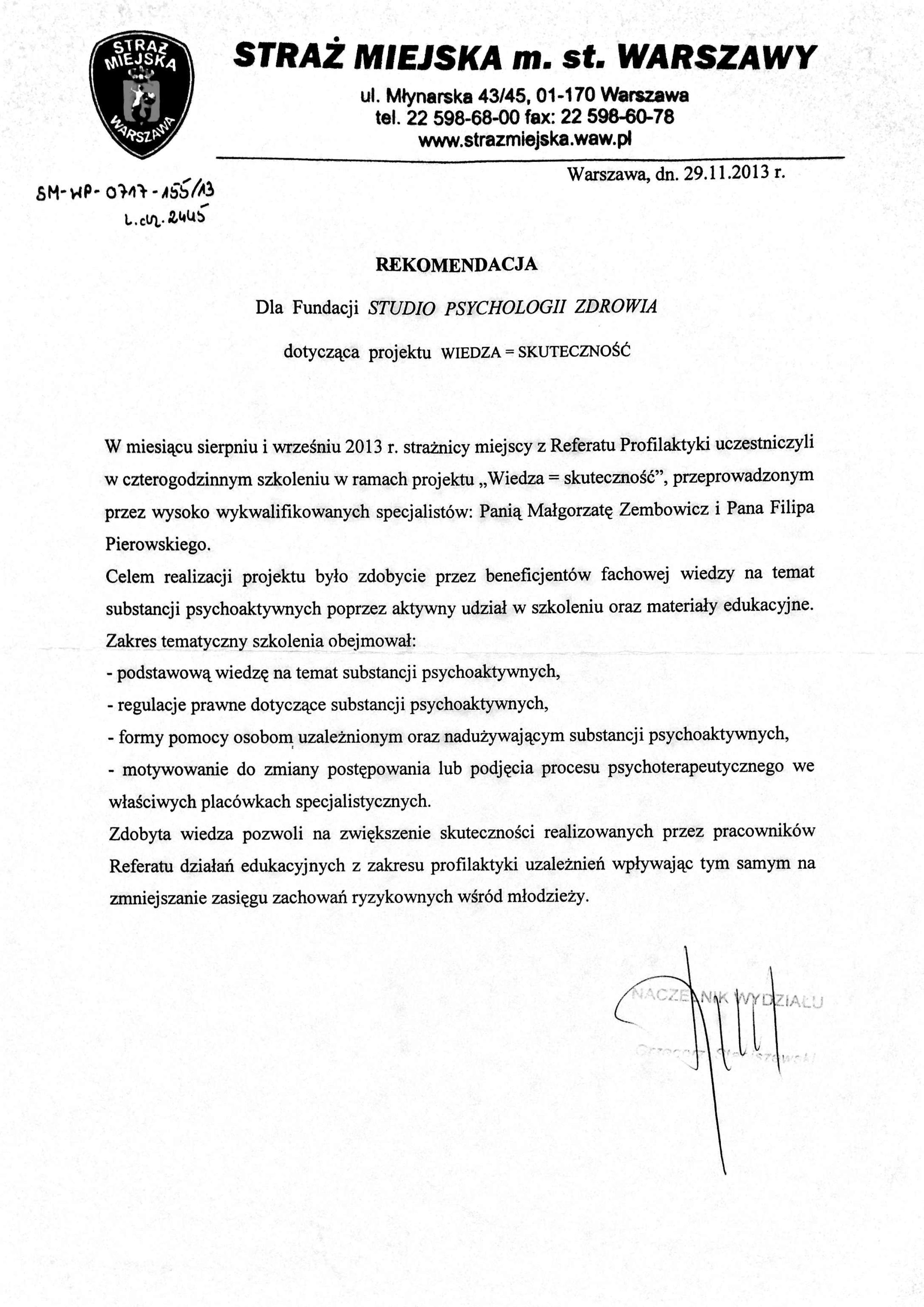 Straż Miejska 2012-1